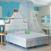 Hoomall Round Lace Curtain Dome Hanging Bed Canopy Netting Mosquito Net Light Blue