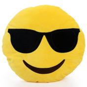 Mingwsiuh Hight Quality Cute Emoji Smiley Emoticon Soft Toy Yellow Pillow