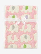 Cutie Pie Girls' Pink Elephants Baby Blanket 80cm x 90cm