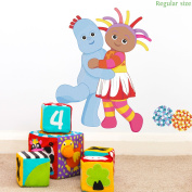 Igglepiggle and Upsy Daisy hug wall sticker (Regular size) | Official In the Night Garden wall sticker