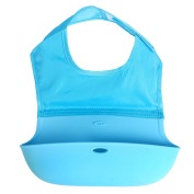 Foldable Baby Silicone Bibs Feeding Bucket Gift WD-01