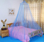SVI Hot 1pc Elegant Round Lace Insect Bed Canopy Netting Curtain Dome Mosquito Net Worldwide Blue