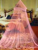 SVI Hot 1pc Elegant Round Lace Insect Bed Canopy Netting Curtain Dome Mosquito Net Worldwide Pink