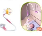 Baby Bottle Holder, Universal Infant Bed Cup Clip Holder Lazy Bracket Flexible Long Arms Stand for Baby Bedroom Desktop Bed Strollers