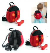 Safety Backpack Harness infant anti-lost band baby toddler belt-Ladybug