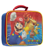 """Super Mario Brothers """"Mario and Friends"""" Insulated Lunchbox - blue, one size"""
