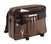 einkaufsmeile-friesland Men's Top-Handle Bag Brown BROWN 41 x 33,5 x 10 cm
