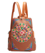 YouPue Womens Embroidered Backpacks Retro Travel Shoulders Bag