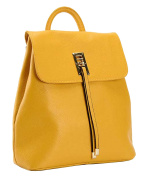 SAIERLONG MsBP Ladies Designer Womens Yellow Cowhide Genuine Leather Daily Casual Backpack