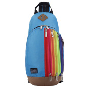 Fashion Rainbow Zips Casual Leisure Backpack Lightweight Outdoor Shoulder Bags