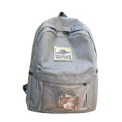 Ukiss Students Daypack Transparent Front Packet Backpack Removeable Velcro