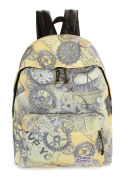 Keshi Canvas Cool Backpack Bag, Fashion Cute Lightweight Backpacks for Teen Young Girls
