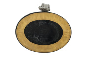 wowww Black And Golden Oval Resin And Plate Clutch