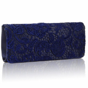 Satin Lace Navy Designer Clutch Bag Evening Purse Ladies Party Wedding Women bag
