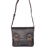 Unisex Messenger Leather Bag Beck Brown Cross Body Organiser Casual Office Bag