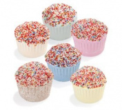 Box of 6 effervescent bath muffins enriched with shea butter - 190g