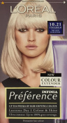 THREE PACKS of L'Oreal Infinia Preference 10.21 Stockholm Very Light Pearl Blonde