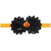 Halloween Pumpkin Baby Flower Headband Girl Newborn Hair Accessories Elastic Headwear