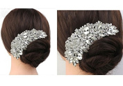 Rhinestone Crystal Bridal Haircomb Wedding Accessory