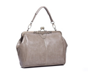 Stunning Grey Prime Classic Kiss-Lock Clasp Tote Bag. FOR £24.99 | FREE UK DELIVERY | SAVE 50%