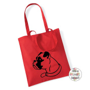 Boxer Dog Face 100% Cotton Tote Bag Gift Present