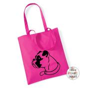 Boxer Dog Face 100% Cotton Tote Bag Gift Present