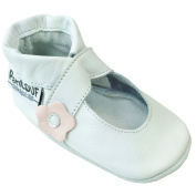 PantOUF Baby Girls' Booties White white 0-6 Months