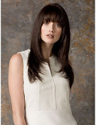 Capless High Quality Long Wavy Heat Resistant Fibre Synthetic Hair Full Wigs with Bang