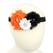 Baby Girls Flowers Headbands Halloween Kids Hair Accessories Children Pearl Elastic Headwear