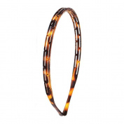 Serre Tete Brown Plastic Styling Hair Accessories - 0.8 cm - Hollow Geometric