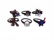 AVIRGO 6 pcs Releasable Ponytail Holder Elastic Rubber Stretchable No-slip Hair Tie Set # 1002 - 6