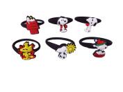 AVIRGO 6 pcs Releasable Ponytail Holder Elastic Rubber Stretchable No-slip Hair Tie Set # 198 - 6