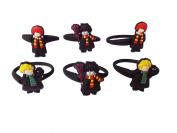 AVIRGO 6 pcs Releasable Ponytail Holder Elastic Rubber Stretchable No-slip Hair Tie Set # 354 - 6