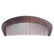 Breezelike No Static Handleless Chacate Preto Wood Fine Tooth Comb