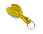 Hair Angel Tangle Baby Key Ring Brush, Gorgeous Gold
