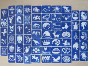 61 X Stencil Packs (One Use) for Glitter Tattoos / Airbrush / Cakes / Henna - Children Kids Parties, Fund Raising, Community Events, Pta, Charity