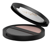 INIKA Pressed Mineral Eye Shadow Duo, Black Sand