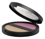 INIKA Pressed Mineral Eye Shadow Duo, Plum and Pearl