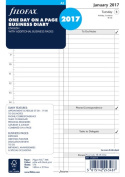 Filofax A5 Refill Business day per page English appointments 2017