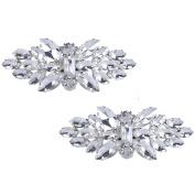 Santfe Fashion Rhinestone Crystal Shoe Clips Charm Shoe Decoration Buckle Accessories