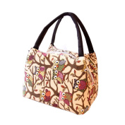 Cute Owl Pattern Thermal Insulated Lunch Tote