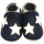 Mejale Soft Soles Leather First Step Walking Baby Shoes Lovely Star