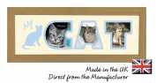 My Cat Photo Frame Name Frame Word Frame Light Oak Wood Finish Birthday Picture Gift Present by Photos in a Word