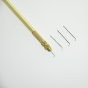 1 Holder & 4 Needles(1-1,1-2,2-3,3-4 Strands) For Ventilating Wigs