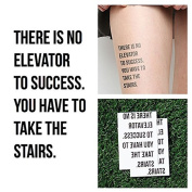 Tattify Motivational Temporary Tattoo - Ups and Downs