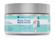 NEW! Advanced Acne Moisturiser - Naturally Organic - Made in Canada - Large 120ml / 4oz - Healing Acne-Clear Skincare For You Face - Treatment for Women and Men - Excel-lent for Sensitive Skin to Reduce Acne & Scars - Step 3 of 3