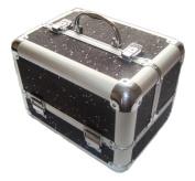 Sparkly Black Aluminium Beauty Make up Vanity Case Box Nail hair Box