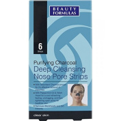 BEAUTY FORMULAS PURIFYING CHARCOAL CLEANSING NOSE PORE STRIPS.