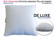 18 x 18 DE LUXE Pillow Insert Hypoallergenic Sham Stuffer in Polyester Form Cover, Exclusively by MYBECCA