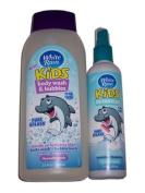 White Rain Kids Pure Splash Sensitive Skin Body Wash, Bubble Bath and Detangler Bundle